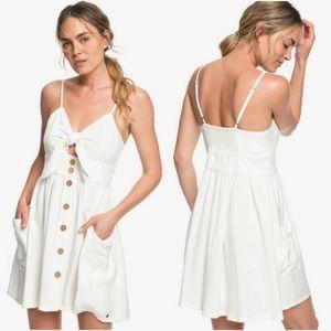 NWT ROXY UNDER THE CALI SUN Ivory Strappy Dress